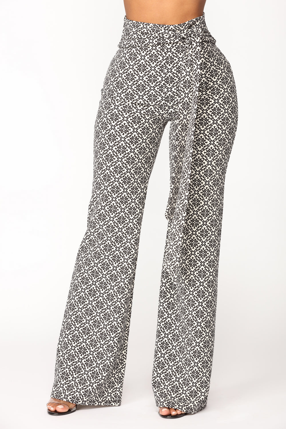 Victoriana Printed Pants - Black/White