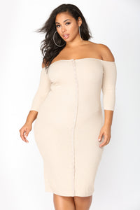 Puppy Love Dress - Taupe