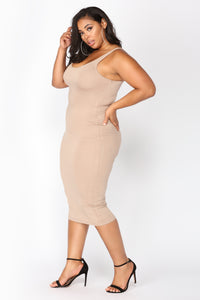 Your Needs Met Dress - Mocha