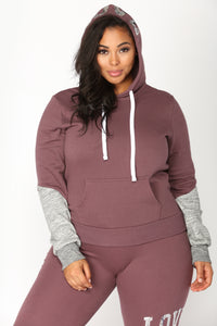 Love Sequence Lounge Hoodie - Vintage Violet