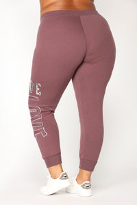 Love Sequence Lounge Joggers - Vintage Violet