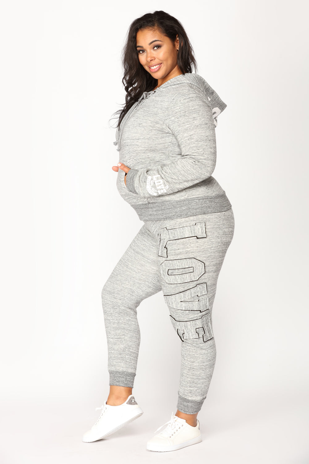 Love Laced Lounge Joggers - Marled Charcoal