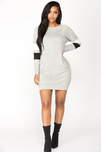 Do Your Thing Oversized Tunic - Heather Grey