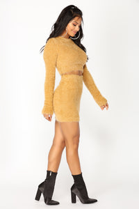 Hot Stuff Fluff Matching Set - Mustard