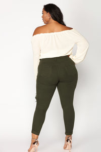 Glistening Jeans - Olive Angle 13