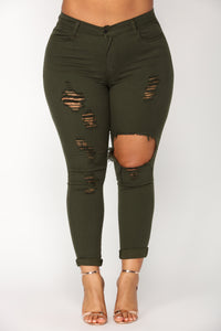 Glistening Jeans - Olive Angle 10