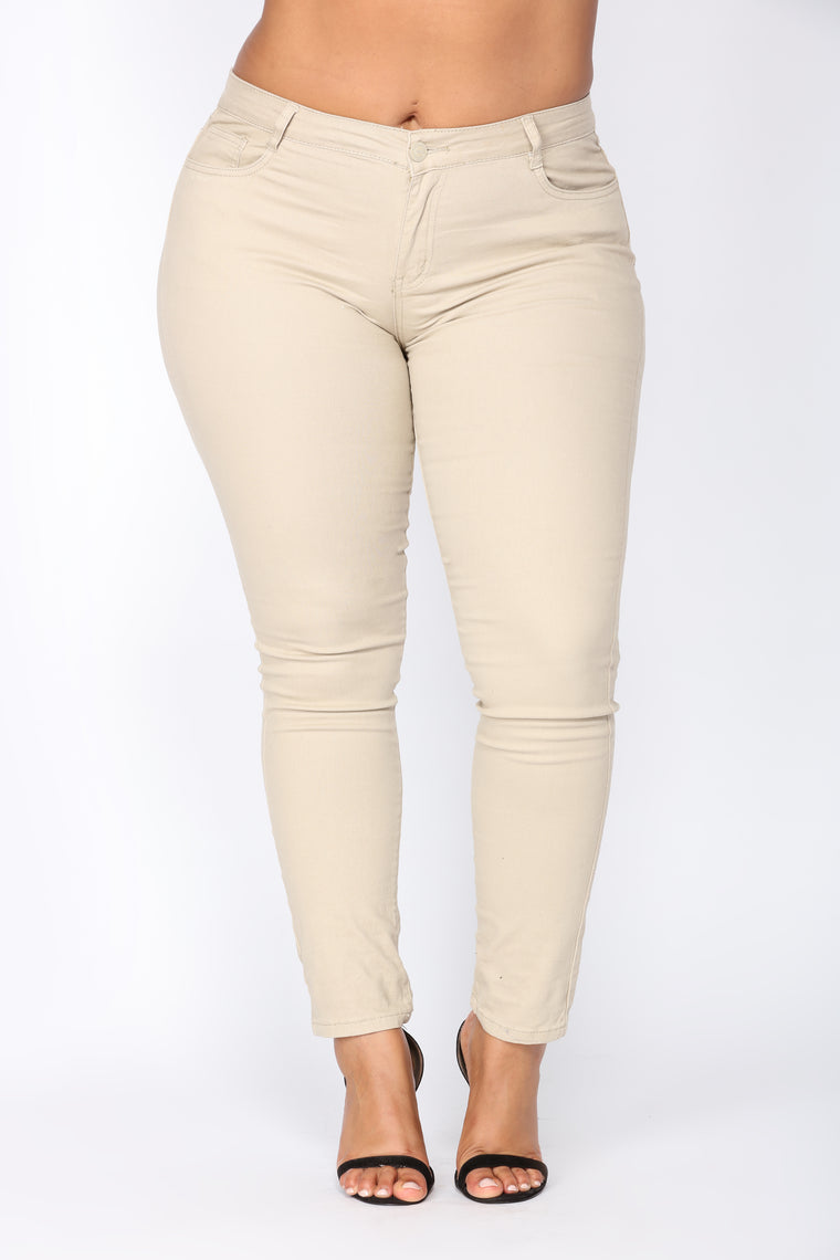 c27d1fb935 Skinny Uniform Pants - Khaki. plus-size