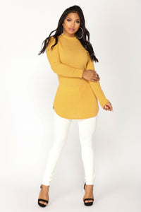 Current Mood Knit Top - Mustard