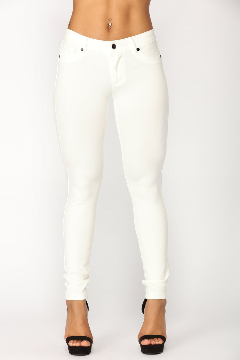 Penelope Ponte Pants - Off White