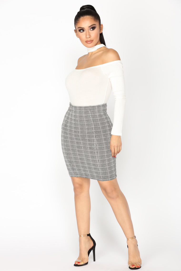 Francette Skirt - Black/White