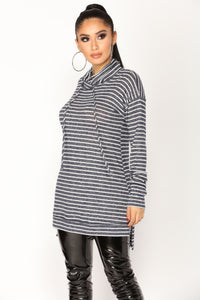 Give Me Stripes Top - Navy