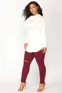 Canopy Jeans - Burgundy Angle 9