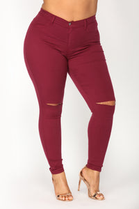 Canopy Jeans - Burgundy Angle 6
