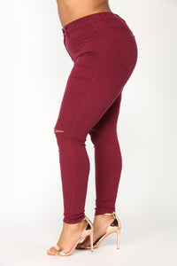 Canopy Jeans - Burgundy Angle 8