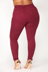 Canopy Jeans - Burgundy Angle 10