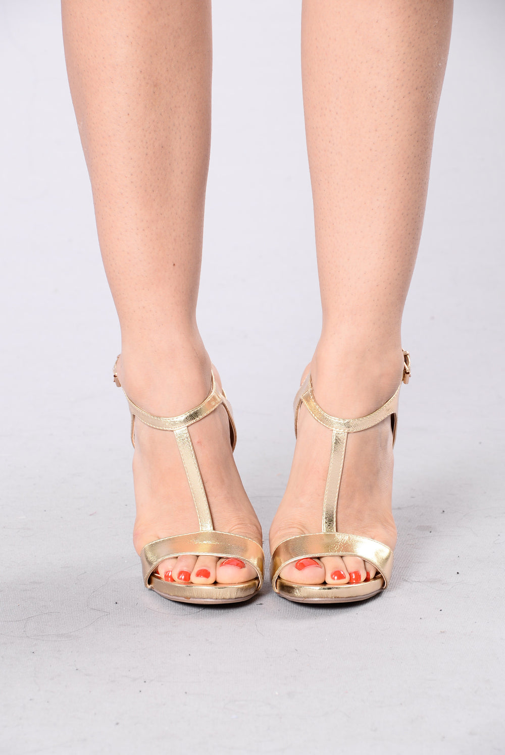 Tap The Strap Heel - Gold