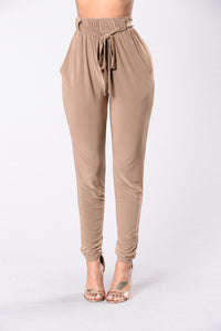 Push Play Pants - Mocha Angle 1