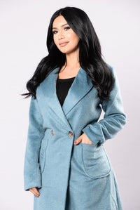 Keep Me Warm Coat - Teal