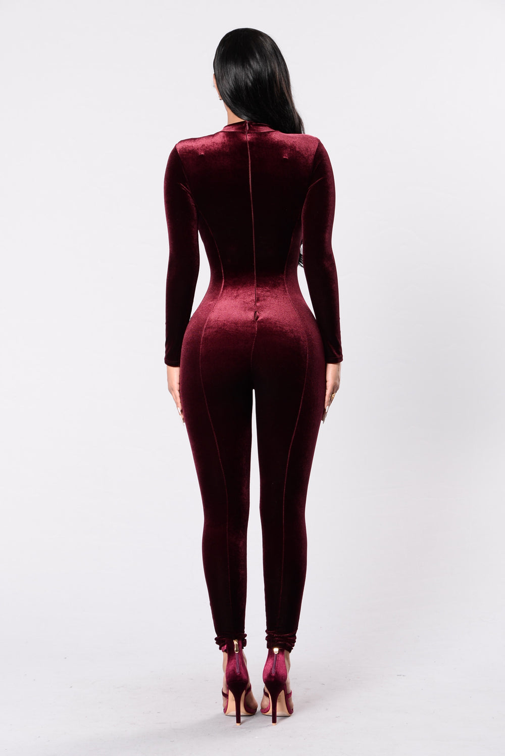 Bounce That Jumpsuit - Burgundy