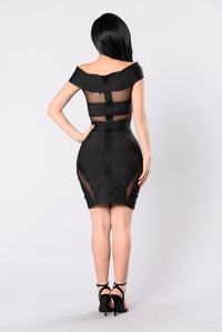 If Looks Could Kill Bandage Dress - Black
