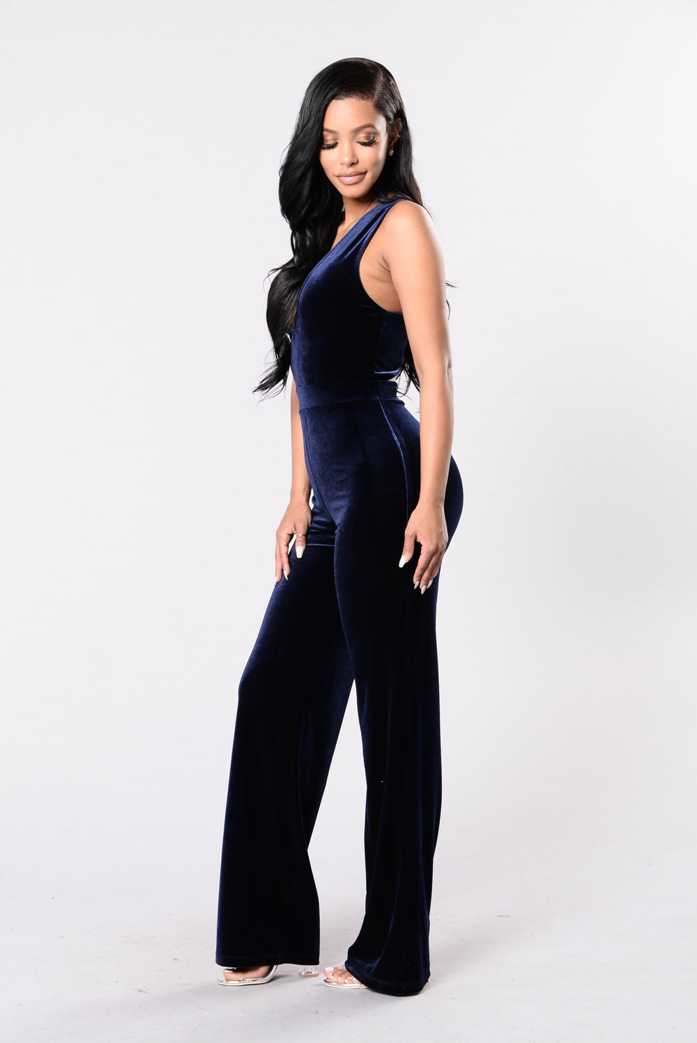 Take Me Higher Jumpsuit - Navy