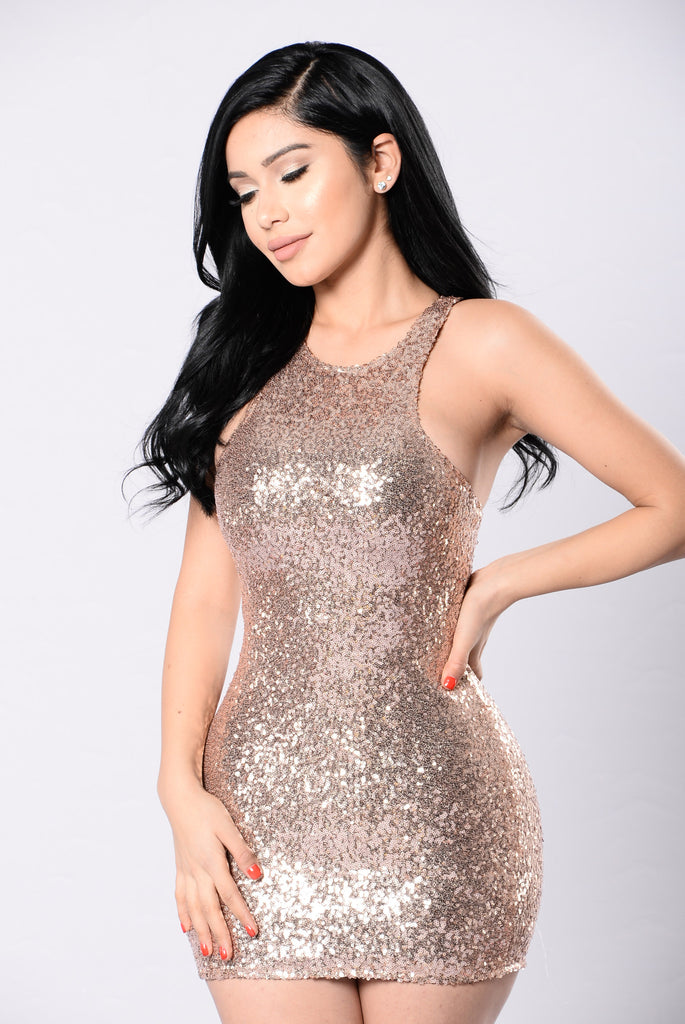 Bright Future Dress Rose Gold