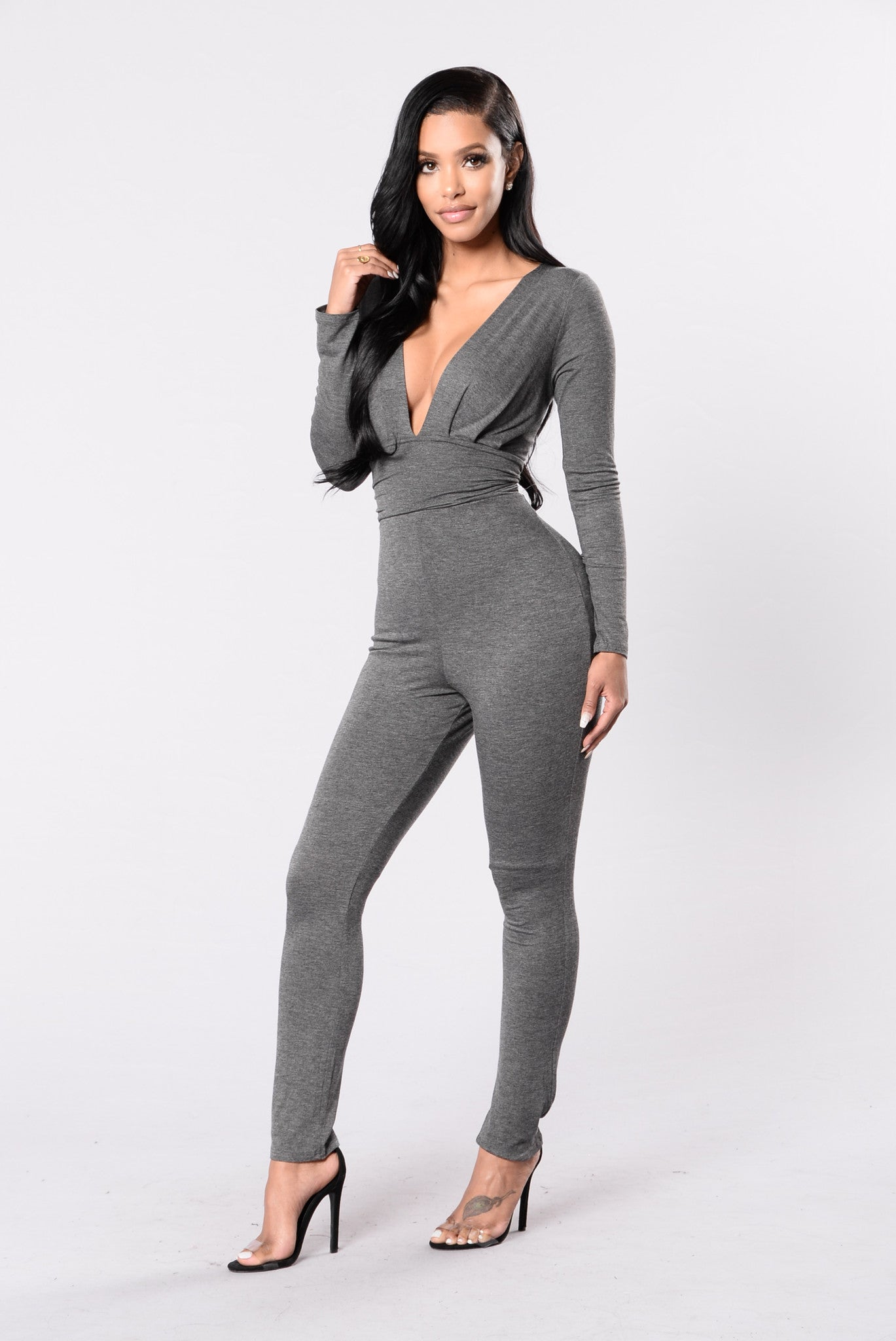 Ride Out Jumpsuit   Charcoal