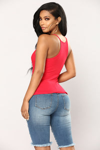 Demi Racer Back Cami - Brick Red