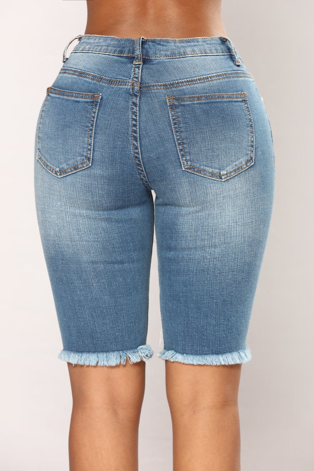 Take A Break Bermuda Shorts - Medium Blue Wash