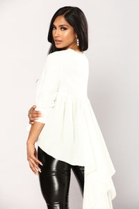 Anise Long Sleeve Top - Ivory