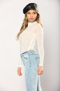 Seeing Stars Studded Bodysuit - White