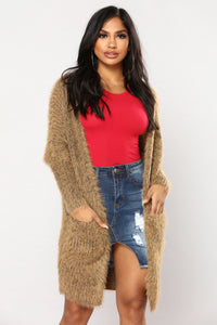 Warm And Cozy Cardigan - Camel
