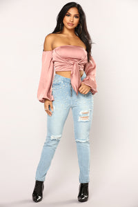 Undercover Lover Boyfriend Jeans - Light Blue Wash