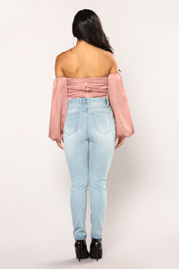 Katherine Off The Shoulder Top - Mauve