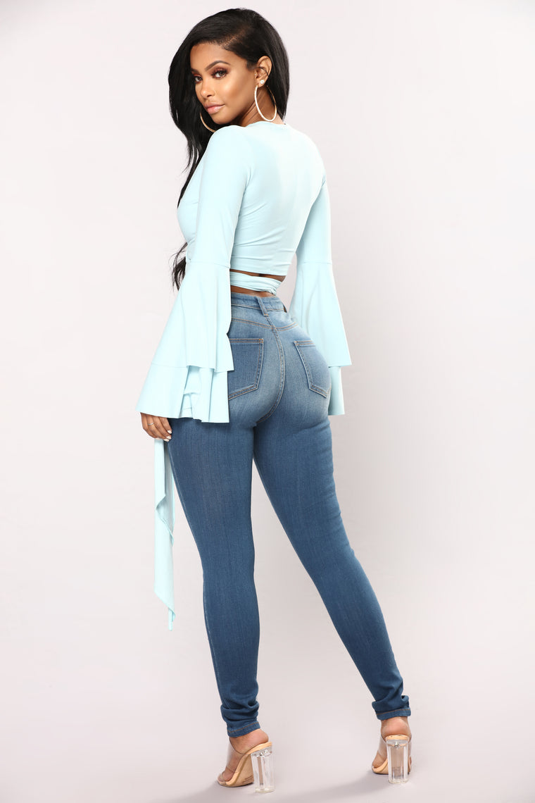Back And Forth Skinny Jeans - Medium Blue Wash