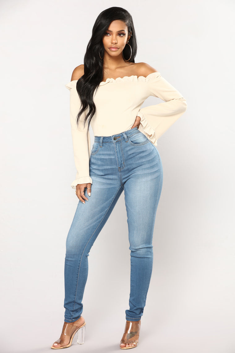 Back And Forth Skinny Jeans - Light Blue Wash