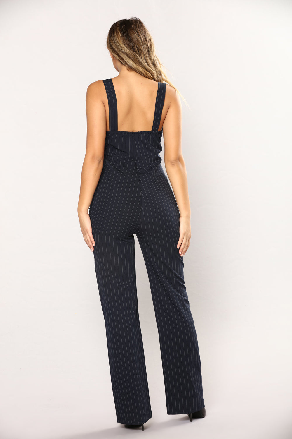 Unavailable At The Moment Stripe Jumpsuit - Navy