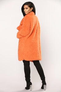 Samia Faux Fur Jacket - Rust