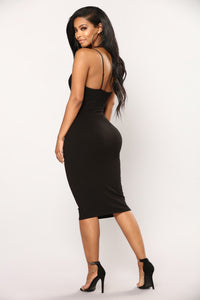 Elva Midi Dress - Black