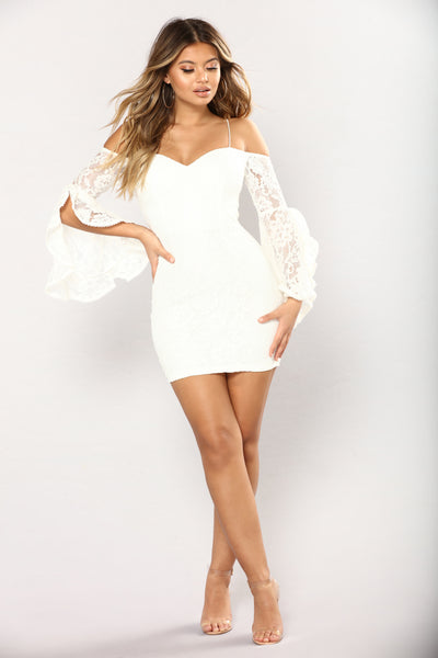Southern Belle Lace Dress Off White