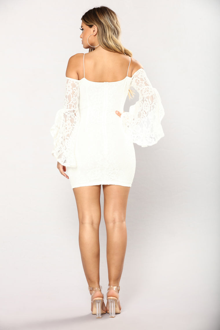 Southern Belle Lace Dress - Off White