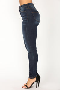 Back And Forth Skinny Jeans - Dark Denim