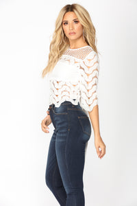 Little Things Crochet Top - White