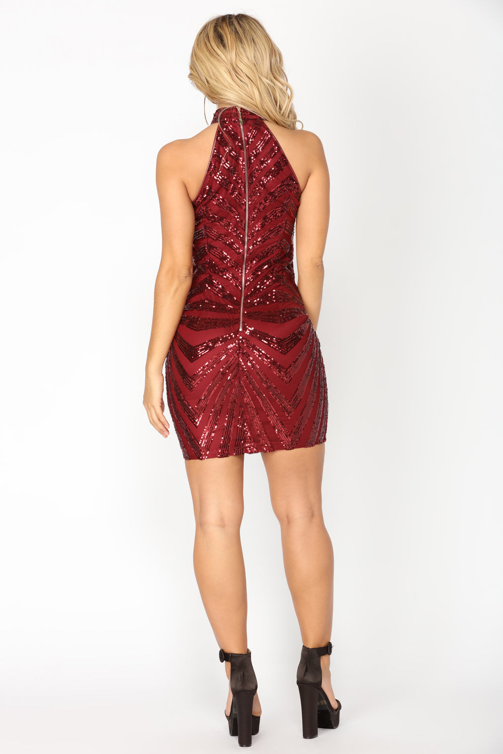 Diva Vibes Dress - Burgundy
