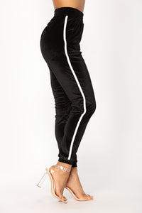 Always Trending Velour Lounge Jogger - Black