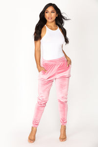 Always Trending Velour Lounge Jogger - Mauve