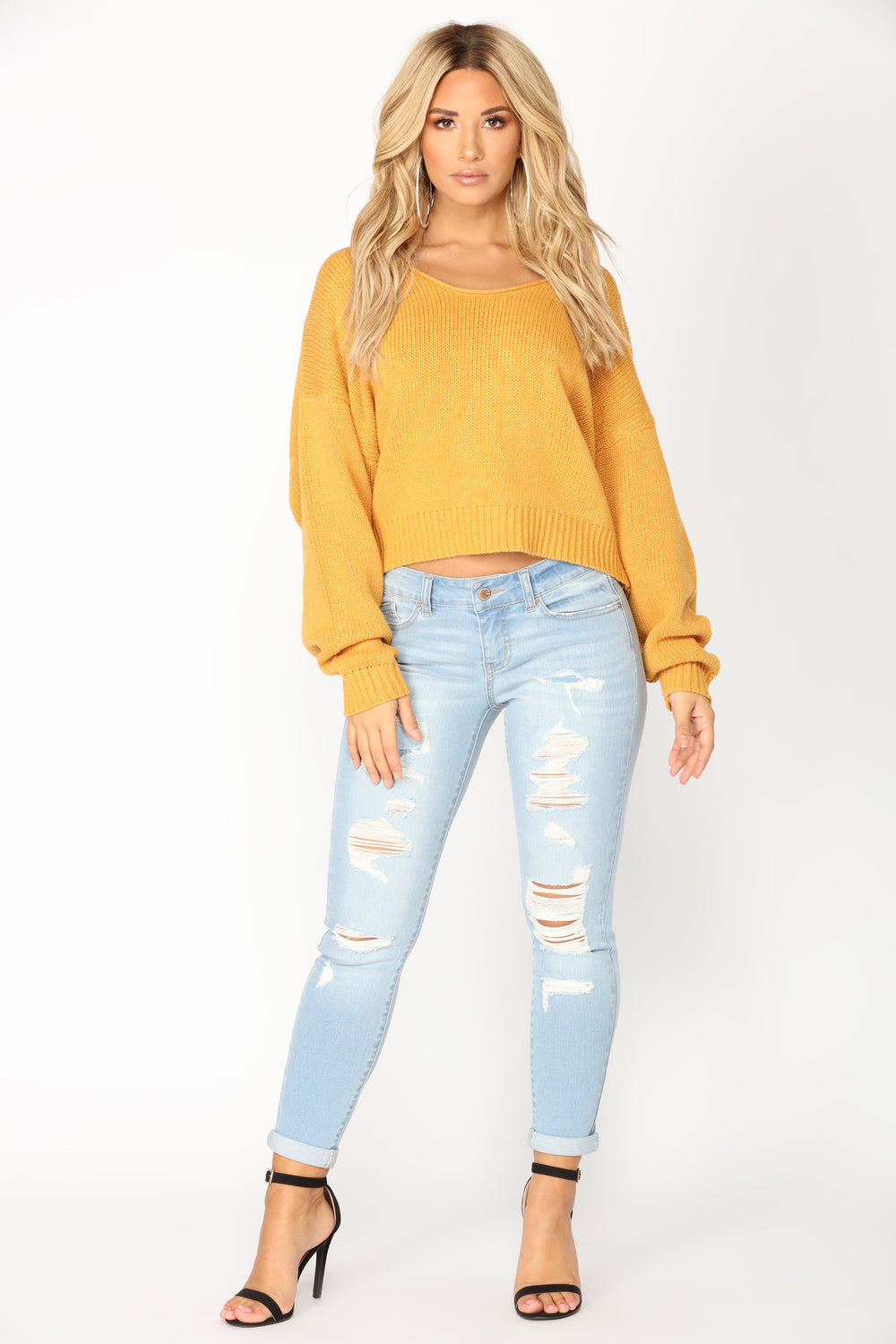 Hyde Lona Sleeve Sweater - Mustard