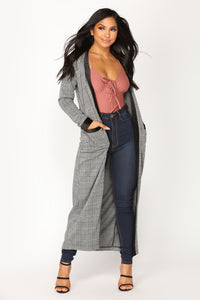 Jacquard Chic Jacket - Grey/Black