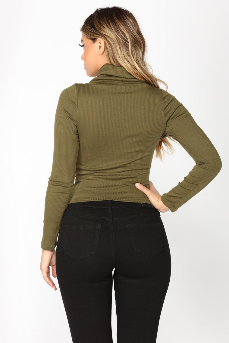 Meant For Just Me Top - Olive