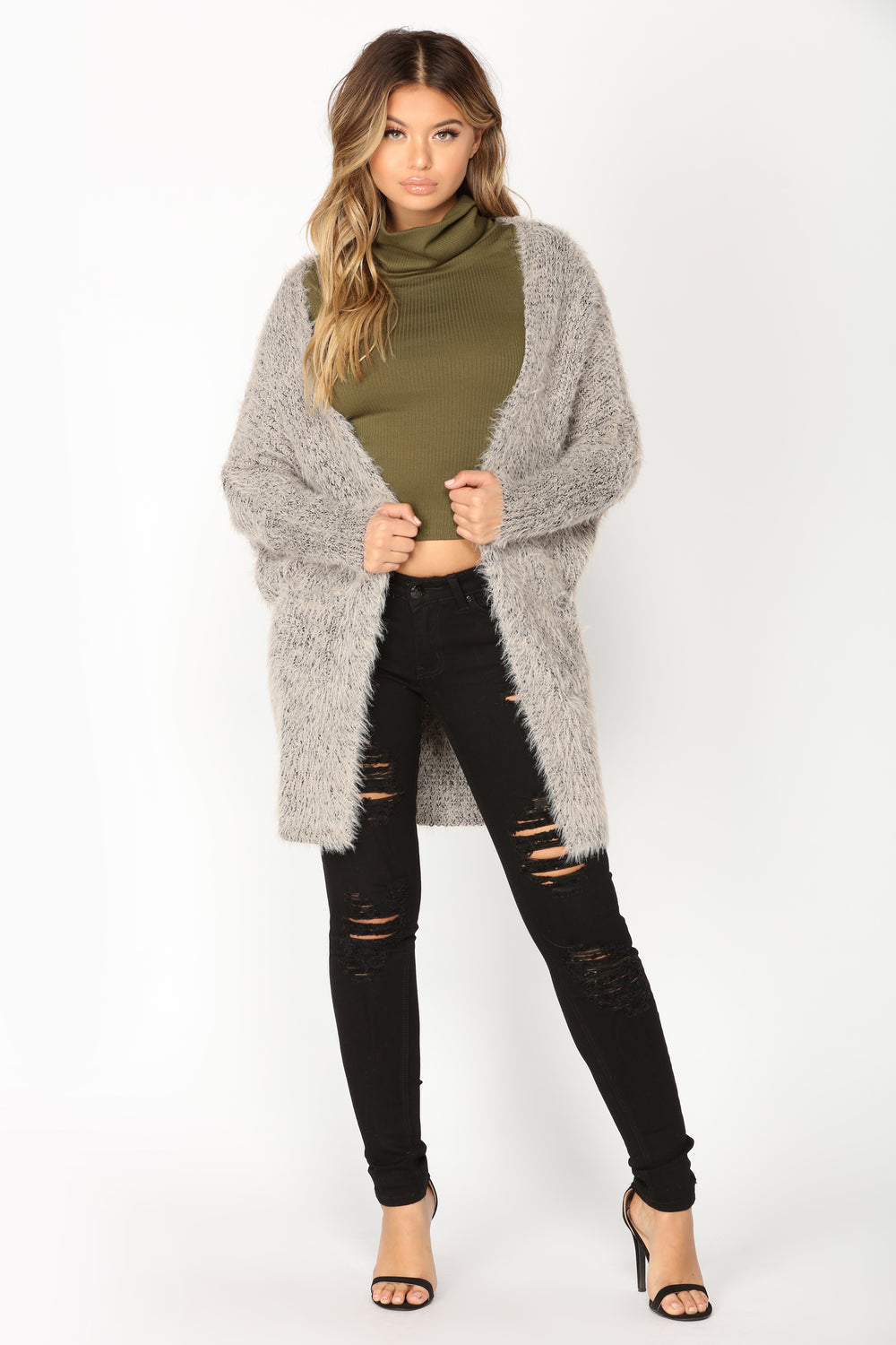 Warm and Cozy Cardigan - Grey